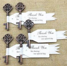 30pcs Wedding Favor Skeleton Key Bottle Opener with Escort Tag Ribbon Card Bridal Shower Baby Shower Seating No Rustic Wedding