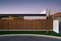 Go soft with a modern wooden fence.