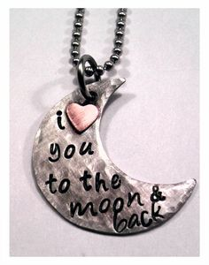 JBK I Love You To The Moon & Back custom hand by jewelrybykaren2, $25.00