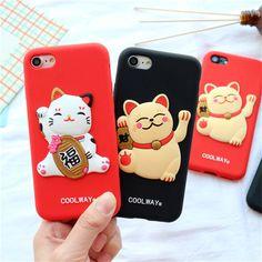 Pour iphone 7 7 plus case Nouvelle Année Japon Chanceux cat silicone Souple case Pour iPhone 6 6 s 6 plus 6 s plus 7 plus Coque arrière couverture dans Téléphone Sacs et Valises de Téléphones et Télécommunications sur AliExpress.com   Alibaba Group
