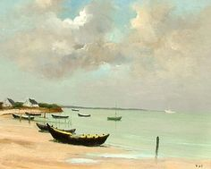 Oyster Boats by Marcel Dyf from Callaghan Fine Paintings & Works of Art