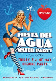 The legenday Water Party of Es Paradis is back, every Friday from May 31st. Enjoy the water canons, the music and the crazy atmosphere of one of the best parties of Ibiza.