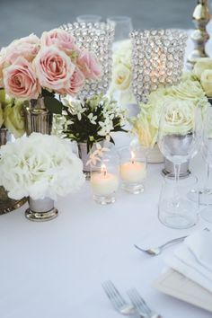 shabby chic wedding reception table decor http://www.weddingchicks.com/2014/03/01/shabby-chic-italian-wedding/