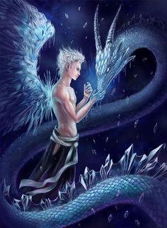 anime ice dragons | Ice dragon. Hitsugaya Toushiro by AksaArt on deviantART