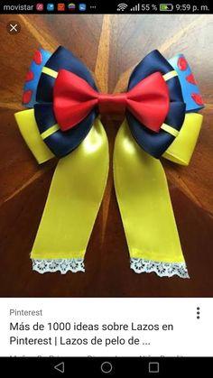 Some day my prince will come. Diy Ribbon, Ribbon Hair, Ribbon Crafts, Ribbon Bows, Ribbons, Girl Hair Bows, Girls Bows, Princess Hair Bows, Disney Princess