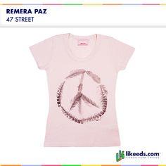 Remera #paz de 47 street #Moda #Folk #Niñas Para ver talles y comprar ¡Hacé click en la imagen!
