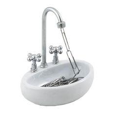 Use for bathroom sink for AG doll sink  Kitchen Sink Paper Clip Holder Minya International Corp.,http://www.amazon.com/dp/B001P8IJBI/ref=cm_sw_r_pi_dp_OGFYsb12GTQQG99D