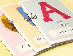 Free printable Alphabet books --- has the cover and then you/your child make/s the insides with space for pictures and writing