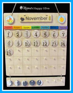 A beautiful hands-on Montessori calendar for kids to learn about the concept of time. - www.mamashappyhive.com