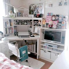 army room decor Just for ARMY Army Room Decor, Study Room Decor, Room Setup, Room Ideas Bedroom, Bedroom Decor, Design Bedroom, Otaku Room, Appartement Design, Kawaii Room