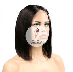 Short Bob Natural Hair Wig Price: 73.02 & FREE Shipping #hashtag2 Natural Hair Wigs, Natural Hair Styles, Lace Front Wigs, Lace Wigs, Hair Density, Wig Making, Wig Cap, Remy Hair, 100 Human Hair