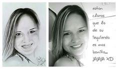 #retrato #grafito #comparacion