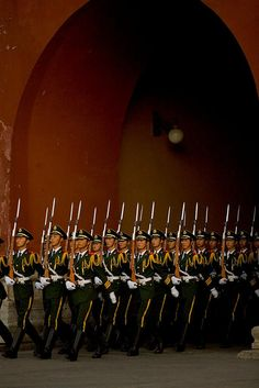 Ornamental Soldiers in Beijing, China