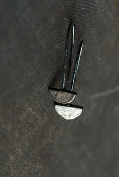 small simple textured modern oxidized by UndergrowthStudio on Etsy