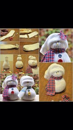 Great Winter Craft: Sock Snowmen!