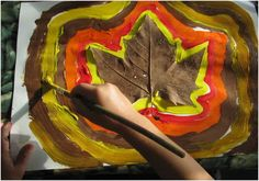 Leaf crafts & kids activities for fall Autumn Crafts, Autumn Art, Autumn Theme, Leaf Crafts Kids, Crafts For Kids, Arts And Crafts, Fall Preschool, Kindergarten Crafts, Autumn Activities