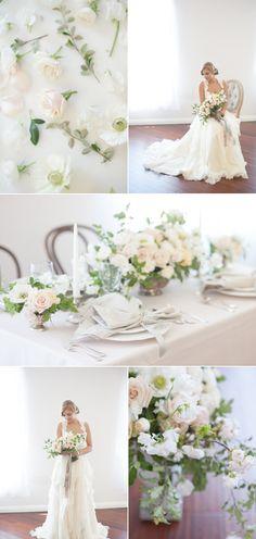 Romantic Blush + Cream Wedding Inpiration – Style Me Pretty