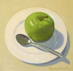 "Daily+Paintworks+-+""Apple+Sauce""+-+Original+Fine+Art+for+Sale+-+©+Karen+Johnston"