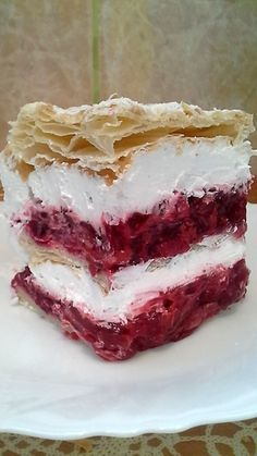 Puff Pastry Desserts, Puff Pastry Recipes, Sweet Desserts, Sweet Recipes, Bakery Recipes, Kitchen Recipes, Cookie Recipes, Dessert Recipes, Lemon Blueberry Cheesecake