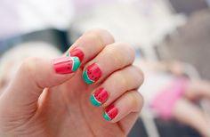 fun watermelon nails