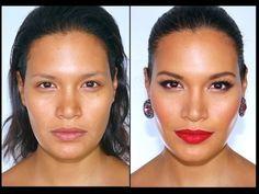 Maquillaje Glamoroso Para Pieles Trigueñas - Oscuras - YouTube