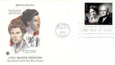 2009 Civil Rights Pioneers Terrell\Ovington Hand Colored PCS First Day Cover