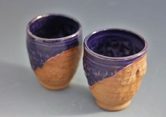 purple cocktail tumblers by DarlinCory on Etsy, $28.95