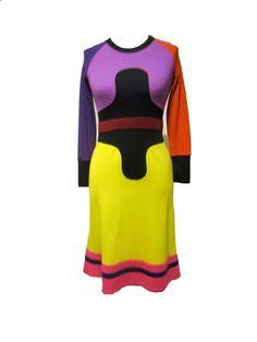 1970's RARE Color Block Stephen Burrows Dress by parasail212, $975.00