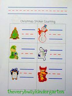 counting stickers- free template