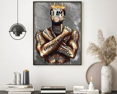 Wall Prints, Poster Prints, Canvas Prints, Buy Canvas, Queen Poster, African American Girl, Black King, Canvas Poster, All Poster