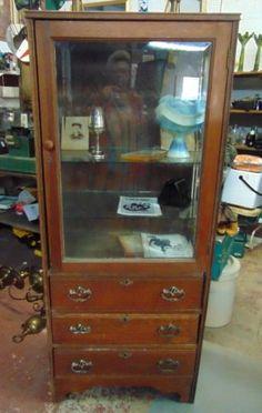 Antique Hamilton Unusual Doctor's Office Medicine Cabinet   eBay ...