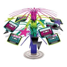 Totally 80s Mini Cascade Centerpiece 7in - Party City