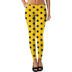 ROWL Blue Stars Yellow Leggings