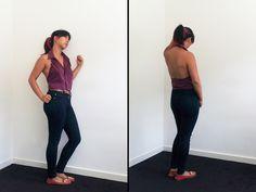 Halter Shirt Transformation - step by step Photo tutorial Bildanleitung Diy Clothing, Sewing Clothes, Upcycling Clothing, Diy Halter Top, Shirt Transformation, Recycle Old Clothes, Sewing Men, Diy Tops, Diy Fashion Accessories