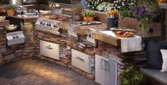Basic Kitchen Area Concepts For Inside or Outside Kitchen areas – Outdoor Kitchen Designs Rustic Outdoor Kitchens, Outdoor Kitchen Design, Basic Kitchen, New Kitchen, Kitchen Dubai, Kitchen Island, Kitchen Modern, Bbq, Outdoor Kitchen Countertops