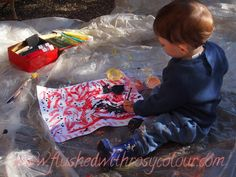 Flushed with Rosy Colour: 5 tips for Painting with a Toddler