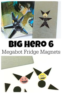 We're gearing up to host a birthday and crafting Big Hero 6 Megabot Fridge Magnets!