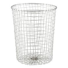 Our Zinc Marché Wastebasket is inspired by French market baskets. Place one in your home office or powder room to add undeniable style to your space. It coordinates nicely with our Zinc Marché Baskets.