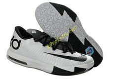 00f5827bf187 Nike Zoom KD 6 White Black Shoes are cheap sale on our website. Shop the  newest white black kd 6 shoes now!