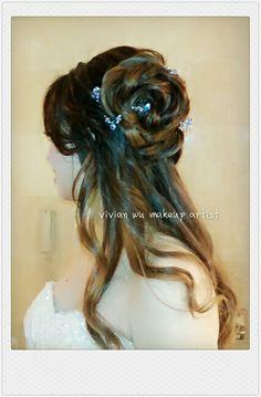 Classy #rose #chignon, @Regine request, happy to complete the #wrdding#makeup&#hairdo #bridalmakeup #hairstly