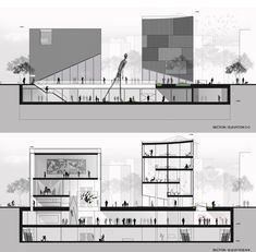 Picture 20 of 20 Gallery SMF Architects proposes a new arts center and large public spaces downtown Seoul. Cuts / sections Architecture Sketchbook, Architecture Panel, Architecture Visualization, Architecture Graphics, Architecture Portfolio, Architecture Details, Sections Architecture, Architecture Background, Architecture Presentation Board