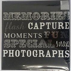 Black Large Slip In Photo Album Holds 500 Photos 6'' x 4''