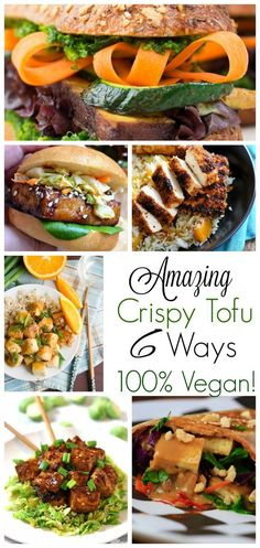 The definitive crispy tofu recipes. Choose from 6 amazing and delicious vegan recipes that will get you loving the 'fu in no time. All are super easy, and super delicious!