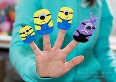 Cómo hacer títeres de dedos de los Minions