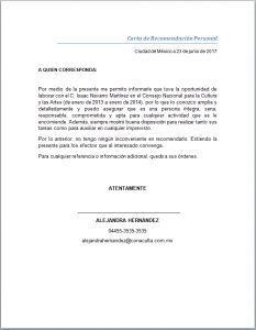 Trabajo Personal Trabajo Formato De Carta De Recomendacion Carta De Recomendacion Personal En 2020 Cartas De Recomendacion