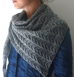 Plover shawl from savoryknitting.com, bias, one skein, easily memorized repeat. Great for a travel project.