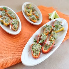8 of 27 receipes for young looking skin #Gluten free #Guacamole Stuffed Peppers #paleo