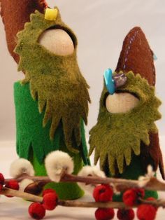 Bridgit's Bell: New Listing-6 inch Woodland Gnome