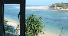 This is the view from John Millers' studio at Lelant in St.Ives Bay,Cornwall from where he worked on his most famous paintings. St Ives Bay, John Miller, Most Famous Paintings, He's Beautiful, Renting A House, Strand, Beach House, Swimming Pools, Studio