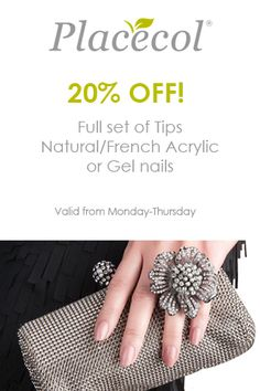 20% discount on a Full set Tips French Acrylics, Full Set, Gel Nails, Health, Tips, Gel Nail, Health Care, Salud, Gel Nail Art